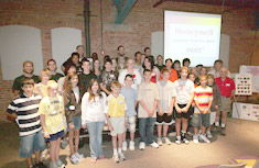 Twenty-seven students presented the data they collected during the fourth annual Honeywell Summer Science Week at the MOST.