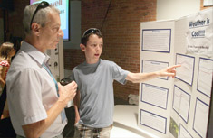 """Adam Luban, a graduate of H.W. Smith School, describes why """"Weather is Cool,"""" and what he learned about pressure systems during Summer Science Week."""