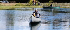 Families enjoy canoeing at the 2012 Honeywell Sportsmen's Days at Carpenter's Brook.