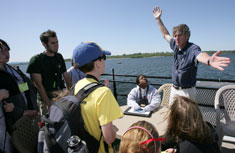 MOST Exhibits Project Manager Dr. Peter Plumley will spend the week educating the Summer Science Week class of 2009.