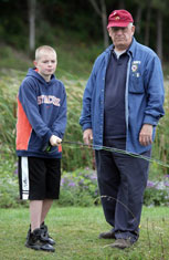 Colin Lucio of Syracuse spends his Saturday learning the mechanics of fly fishing.