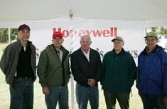 Honeywell representative John McAuliffe was joined by Onondaga County Legislators Jim Corbett and Bob Warner, and Izaak Walton League members Conrad Strozik and Les Monostory at Sportsmen's Days (pictured left to right).