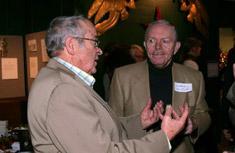 Onondaga Audubon Society Vice President Niles Brown and Director Robert Long discuss the new educational initiative.