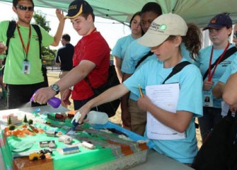 Students Investigate the Watershed Model during Honeywell Summer Science Week at the MOST.