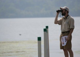 Honeywell Institute for Ecosystems Education Teacher Observes Birds at Onondaga Lake