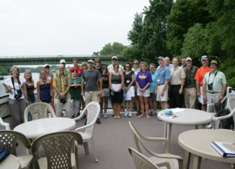 Honeywell Institute for Ecosystems Education Teachers and Guest Speakers go on a Tour of Onondaga Lake on the Mid-Lakes Navigation's Flagship Emita II.