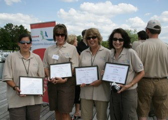 Honeywell Institute Teachers Holding their Certificates After Completing the Honeywell Institute for Ecosystems Education Program