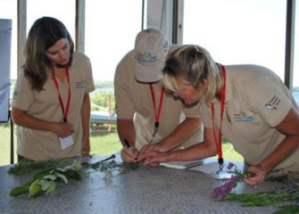 Honeywell Institute for Ecosystems Education Teachers Work Together to Record their Findings.