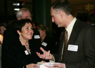 John McAuliffe Talks with Audubon Board Member Patricia Callahan