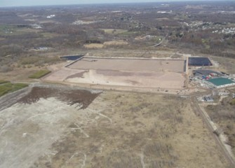 Construction moves forward at the consolidation area.