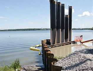 When Complete, the Second Phase of the Barrier Wall Will Span 1,650 Feet