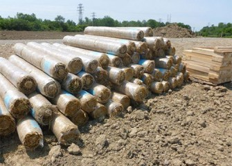Rolls of biodegradable textile for erosion control arrive