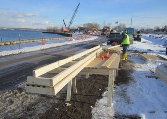 Lakeshore construction activities continue.