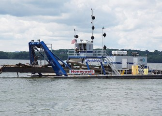 The largest of the three Onondaga Lake dredges.