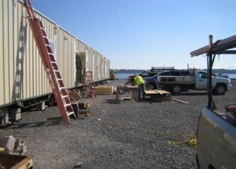 The shoreline offices will be in use around the clock during dredging