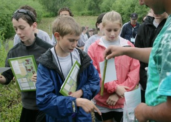 Students Receive Shrub Willow Tree Branches to Plant at Home