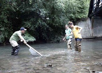 Onondaga Creek Kick-net Sampling