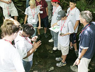 Students Learn About Geology at Heiberg Memorial Forest