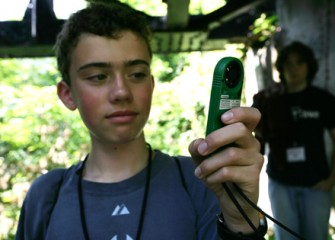 A Student Examines his GPS System