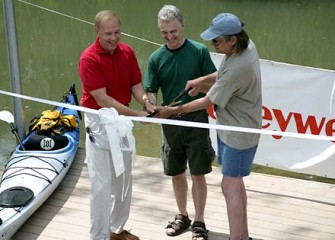 Canoe Launch Ribbon Cutting