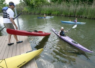 Recreational Kayaking on Nine Mile Creek