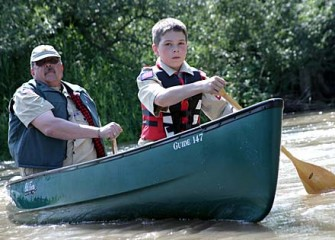 Boy Scout Troop 333 on Nine Mile Creek