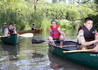 Boy Scout Troop 333 on Nine Mile Creek