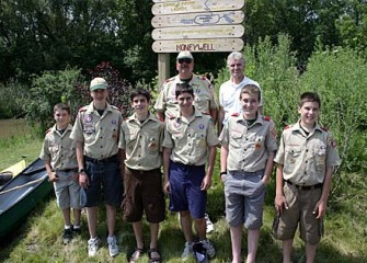 Boy Scout Troop 333 from Cicero, New York
