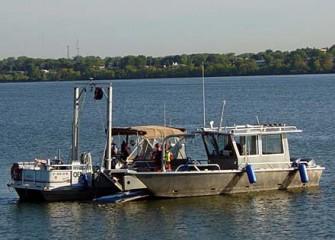 Dive Boad and Sampling Vessels