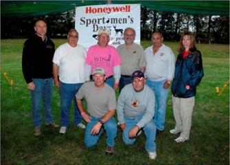 Honeywell Syracuse Program Director John McAuliffe with the Onondaga County Federation of Sportsmen's Clubs' Event Committee