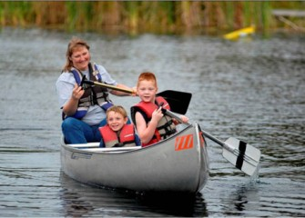 Young Sportsmen Enjoy Canoeing at Carpenter's Brook