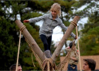 Lexie Cotrill Makes it Through the Boy Scouts' Ropes Course