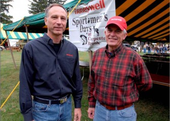 Honeywell Syracuse Program Director John McAuliffe with Onondaga County Legislator Jim Corbett