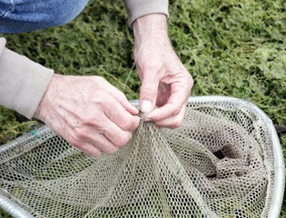 Participants Learned how to Bait a Net