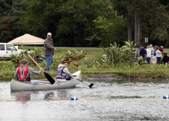 Sportsmen Enjoy Canoes at Carpenters Brook