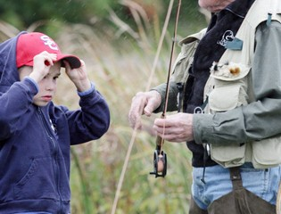 A Fisherman-in-Training Gets a Lesson from a Pro