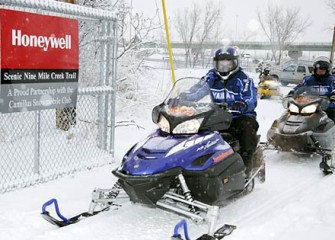Snowmobile Trail Entrance