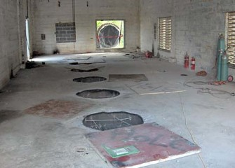 Inside Pump House before Construction