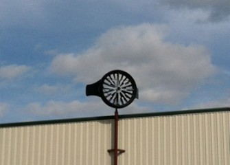 Honeywell Wind Turbines are installed to provide supplemental renewable energy to help power the water treatment plant.