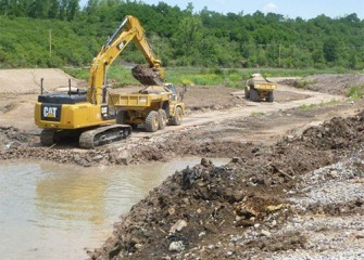 Excavation continues at Nine Mile Creek.