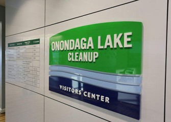 Onondaga Lake Visitors Welcome Sign