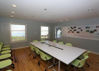 A Visitors Center conference room offers space for groups that have lake-related meetings.