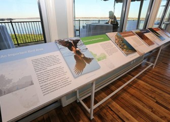 Displays highlight DEC's cleanup plan, progress to date, the re-establishment of wetlands, and extensive habitat enhancements.