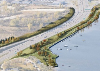 Artist's rendering of future Geddes Lakeshore