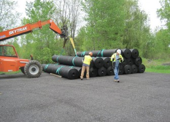 High-Density Polyethylene (HDPE) Liner is Delivered for Installation at the Containment Area