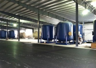 Installation of the water treatment tanks and pipes will continue throughout the winter months.