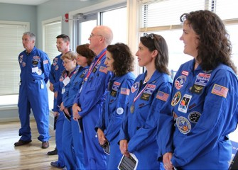 Central New York Honeywell Educators @ Space Academy alumni joined the celebration held at the Onondaga Lake Visitors Center.