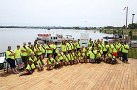 Summer Science Week students at the completion of their weeklong exploration of the Onondaga Lake watershed.