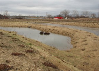 Portions of Nine Mile Creek were seeded and planted fall 2012.