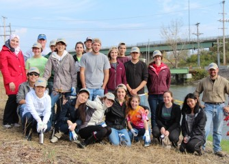 SUNY-ESF student volunteers and environmental stewards now part of the Onondaga Lake Conservation Corps.